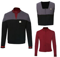 Star Trek Generations Jean-Luc Picard Cosplay Costume Uniform Halloween Suit