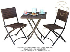 Living Room Sitting for the Garden in Polirattan Duet with Small Table 2 Chairs