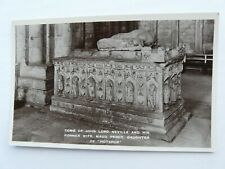 Tomb of John lord Neville, Durham Cathedral. Raphael Tuck & Sons Real Photograph