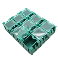 50 x Green Mini Electronic Component Parts Case Box Laboratory Storage SMT SMD