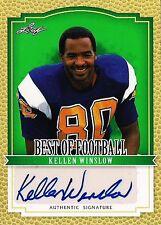 KELLEN WINSLOW 2012 Leaf Best of Footbal Autograph HOF San Diego Chargers