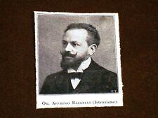 Ministro dell'Istruzione Alfredo Baccelli di Roma