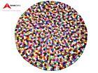3 FT or 36 Inch Multicolour Felt Ball Rugs-Genuine Nepalese Handmade Felt Ball