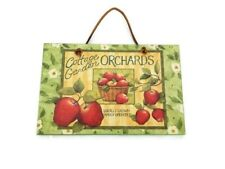 Cottage Garden Orchards Wall Décor Sign Apple