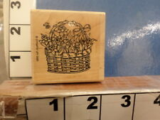 Flower basket daffodils easter Rubber Stamp 5w