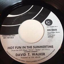 David T. Walker: Hot Fun In The Summertime 45 - Soul