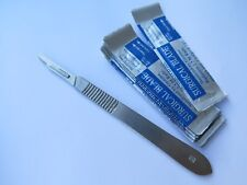 10 PCS #15 Surgical Sterilised Blades + #3 Scalpel Handle Hobby/Arts/Craft/Clay