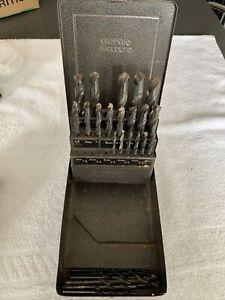 VINTAGE Metal Cased Dormer Jobber Drill Set No:204 (incomplete) L👀K