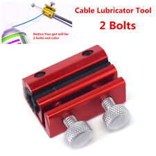 Universal Motorcycle Cable Lubricator Tool Brake Clutch Luber Oiler 2 Bolts -Red