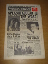 MELODY MAKER 1961 MARCH 18 CONNIE FRANCIS KENNY BALL LOUIS ARMSTRONG BLACKPOOL +