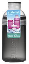Sistema noir trio boisson bouteille d'eau 480ml bpa free vis haut école gym travail