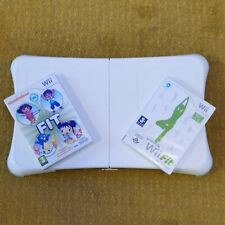 Nintendo wii fit balance board In White With Wii Fit & Nickelodeon Fit and cover