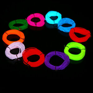 Neon LED Light Glow EL Wire String Strip Rope Tube Decor Car Party&Controller