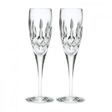 Pair of Waterford Crystal Lismore Nouveau Champagne Flute Glasses *New in Box*