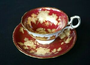 Beautiful Wedgwood Tonquin Ruby Teacup And Saucer