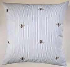 "Funda de Cojín en julios azul raya de abeja 16"""