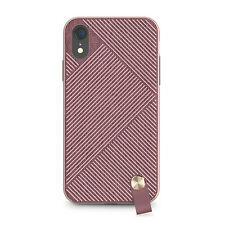 """Moshi Altra Slim Hardshell Case With Strap for iPhone XR 6.1"""" Blossom Pink"""