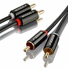 Cinch Kabel 1m für HiFi & Heimkino Anlagen, AUX Audio Kabel RCA Stecker SEBSON