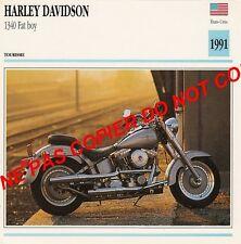 HARLEY-DAVIDSON 1340 FAT BOY  USA    1991 FICHE MOTO