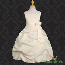 Ivory Wedding Flower Girl Communion Party Dress Size 12
