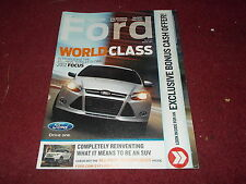 2012 FORD FOCUS MODEL INTRODUCTION MYFORD MAGAZINE SALES BROCHURE NICE