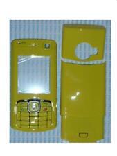 Cover copri batteria+tastiera+vetro per Nokia N70 giallo