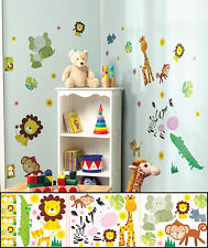 Jungle Friends Room Decal Set Colorful Appliqués Outlet Light Switch Cover