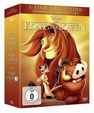 WALT DISNEY  Der König der Löwen Teil 1 - 3 Collection 3 DVD  NEU & OVP