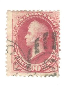 Scott 166 Early US Stamp..90c Perry... 1873... Light Cancel