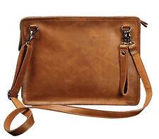 Men's Leather Messenger Briefcase Wristlet Wallet Shoulder Envelope Clutch Bag