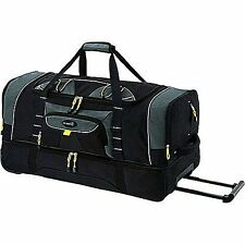 """36"""" Rolling Wheeled Duffle Bag Travel Luggage Suitcase With Carry Handle Storage"""