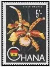 Timbre Flore Orchidées Ghana 52 * lot 27748