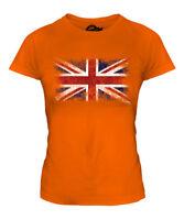 UNION JACK DISTRESSED FLAG LADIES T-SHIRT TOP UK GB GREAT BRITAIN UNITED KINGDOM
