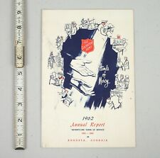 Vintage 1962 Salvation Army Annual Report Augusta Georgia Hands of Mercy