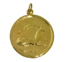 WOW Gold Plated Capricorn Pendant Zodiac Charm Jewelry Star Celestial Spirit Goa