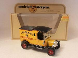 Matchbox Models of Yesteryear Y-12 1912 Ford Model T Van, Colman's Mustard
