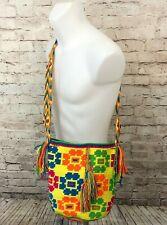 NEW Wayuu Bag 100% Authentic Colombian Cross Body Yellow/Orange Boho Bag