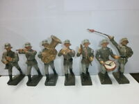 Konvolut 7 alte Lineol Massesoldaten zu 7.5cm Musiker Musikkapelle