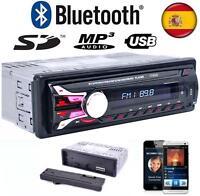 Radio Para Coche con Bluetooth SD/USB/AUX FM MP3 50x4 Quita Frontal y Mando