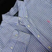 Mens Polo Ralph Lauren Custom Fit Linen Oxford Golf Dress Shirt Size XL Casual