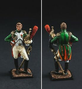 Tin Soldier, Colonel of the Dragoon Guards France, Napoleonic 54mm.Art painting