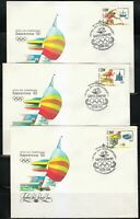 Soviet Russia 1991 FDC covers Mi 6225-6227 Sc 6023-6025 Olympic Games,Barcelona