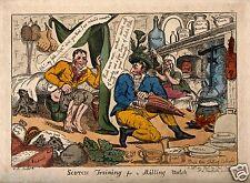 Scottish Satire Etching 1811 7x5 Inch Print Scotland Reprint