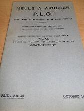 catalogue de meule a aiguiser année 1934 ( ref 7 )