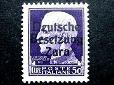 ITALIA REGNO OCCUPAZIONE TEDESCA ZARA 50 L 1943 MNH** CV € 75.000 - ITALY ITALIE