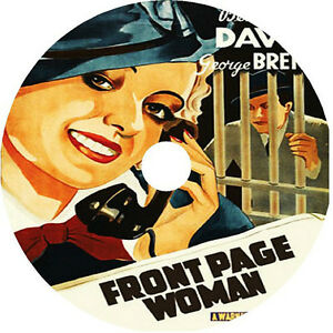 Front Page Woman DVD Bette Davis George Brent 1935 V rare