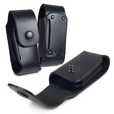 TUFF Luv Vaina de cuero caso bolsa para Leatherman Wave WP650-Negro