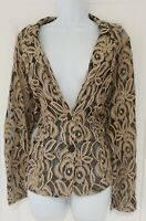 Womens Together Black Beige Lace Evening Occasion Jacket With Pockets 18 New.