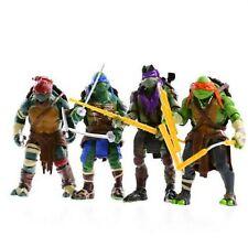 Teenage Mutant Ninja Turtles MOVIE 4 PCS TMNT Action Figures Kids Xmas Gift Toys