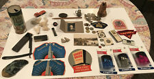 Large Junk Drawer Lot Antique Vintage New; Coins, Razor, Needle Book, Rppc Other